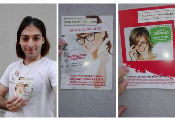 Volantinaggio a Milano per Visionario Opticians